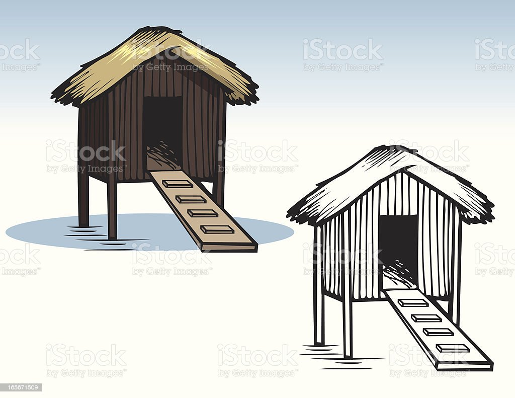 Houses - Island Hut royalty-free stock vector art