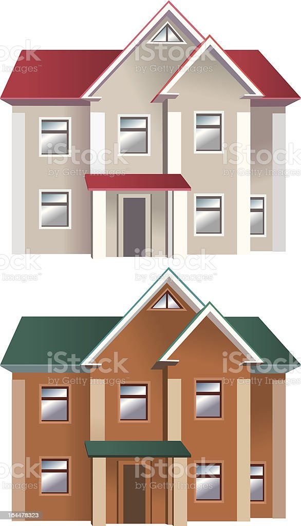 Houses of different colors royalty-free stock vector art