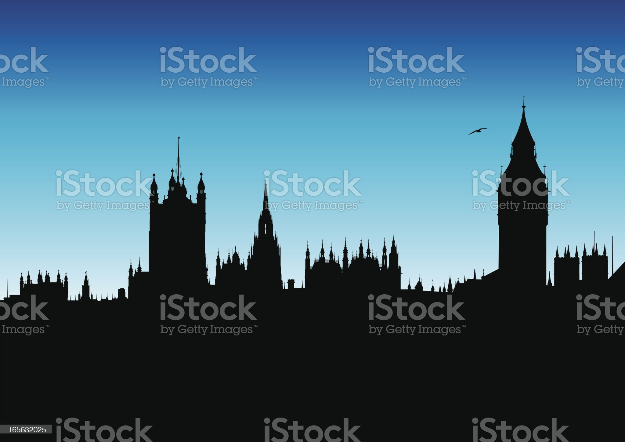 Houses of Parliament and Big Ben royalty-free stock vector art