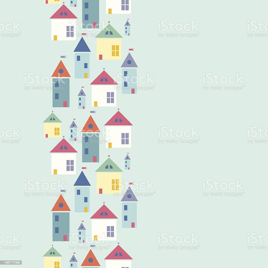 Houses vertical seamless pattern royalty-free stock vector art
