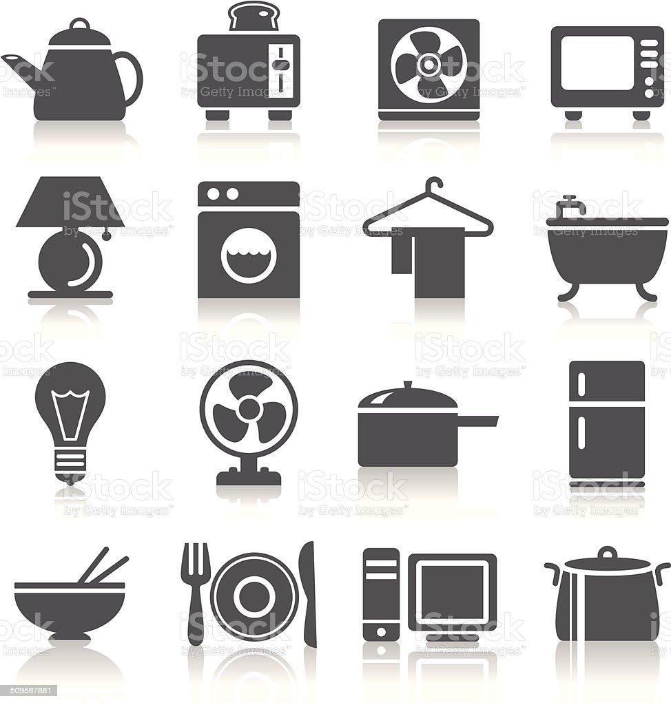 Houseware Icons vector art illustration