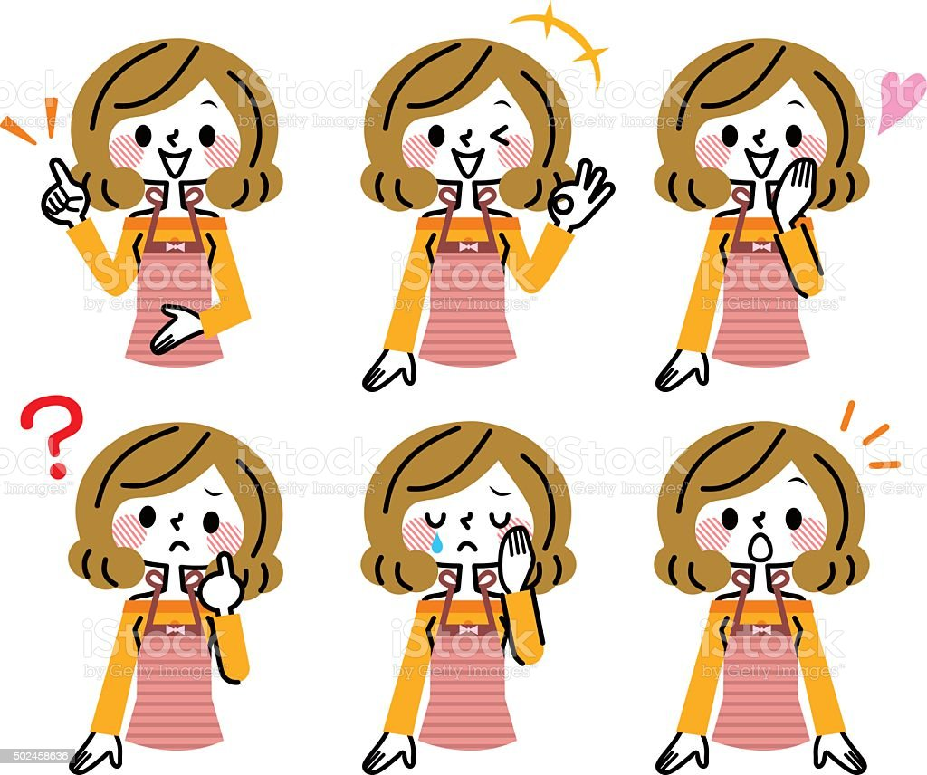 Housewife expression vector art illustration