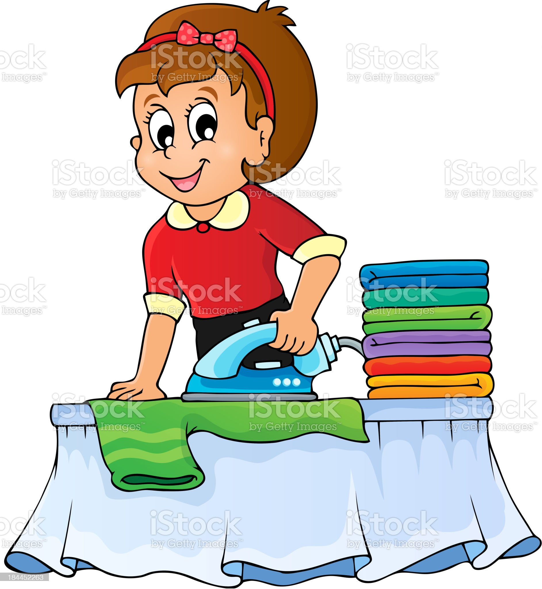 Housewife topic image 1 royalty-free stock vector art