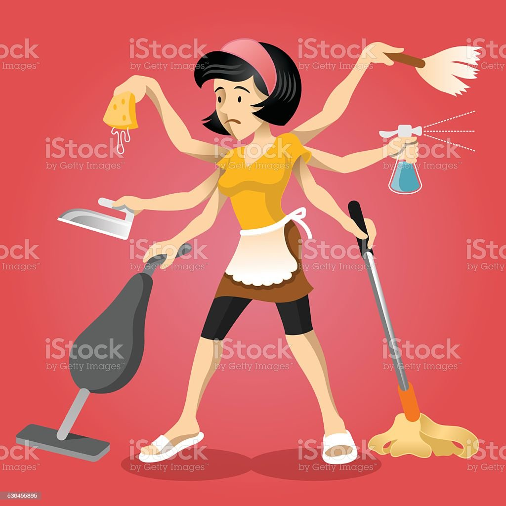 Housewife vector flat illustration vector art illustration
