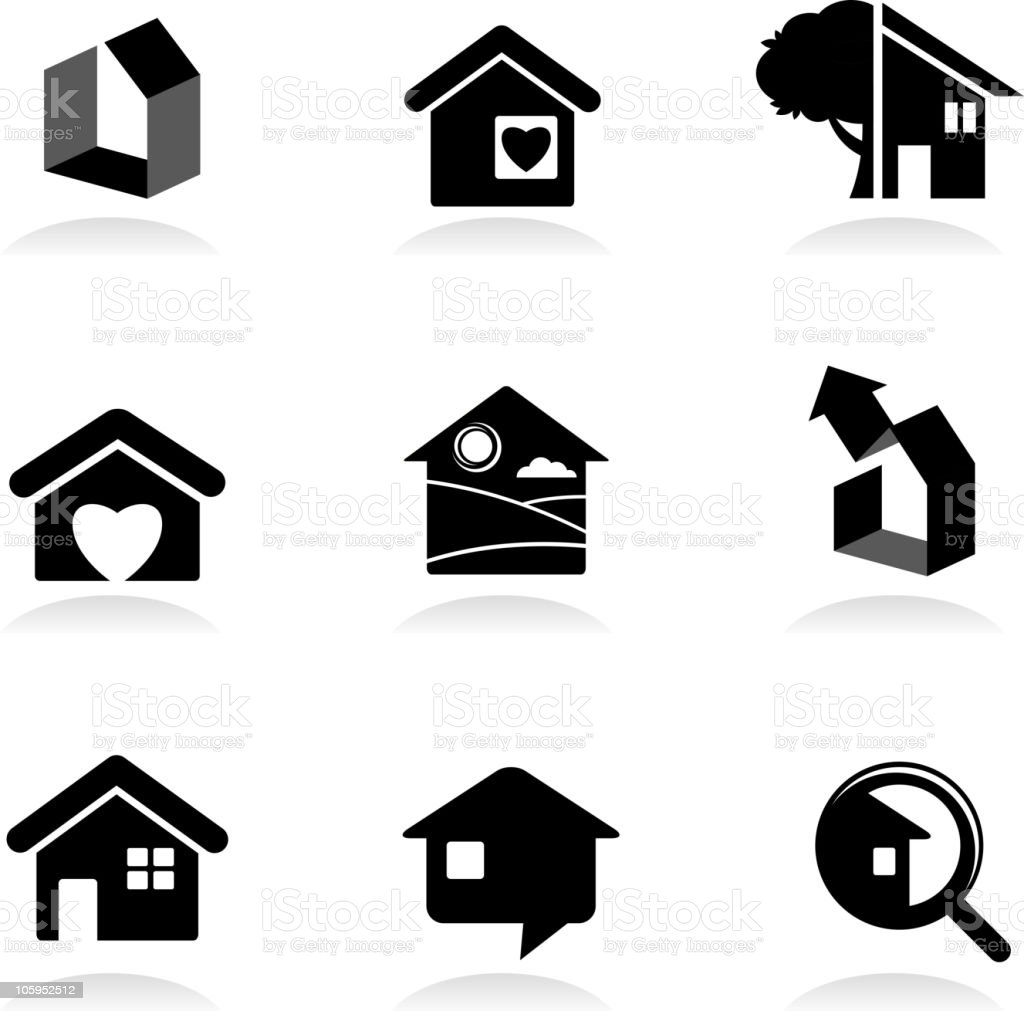 Housing and real-estate vector art illustration