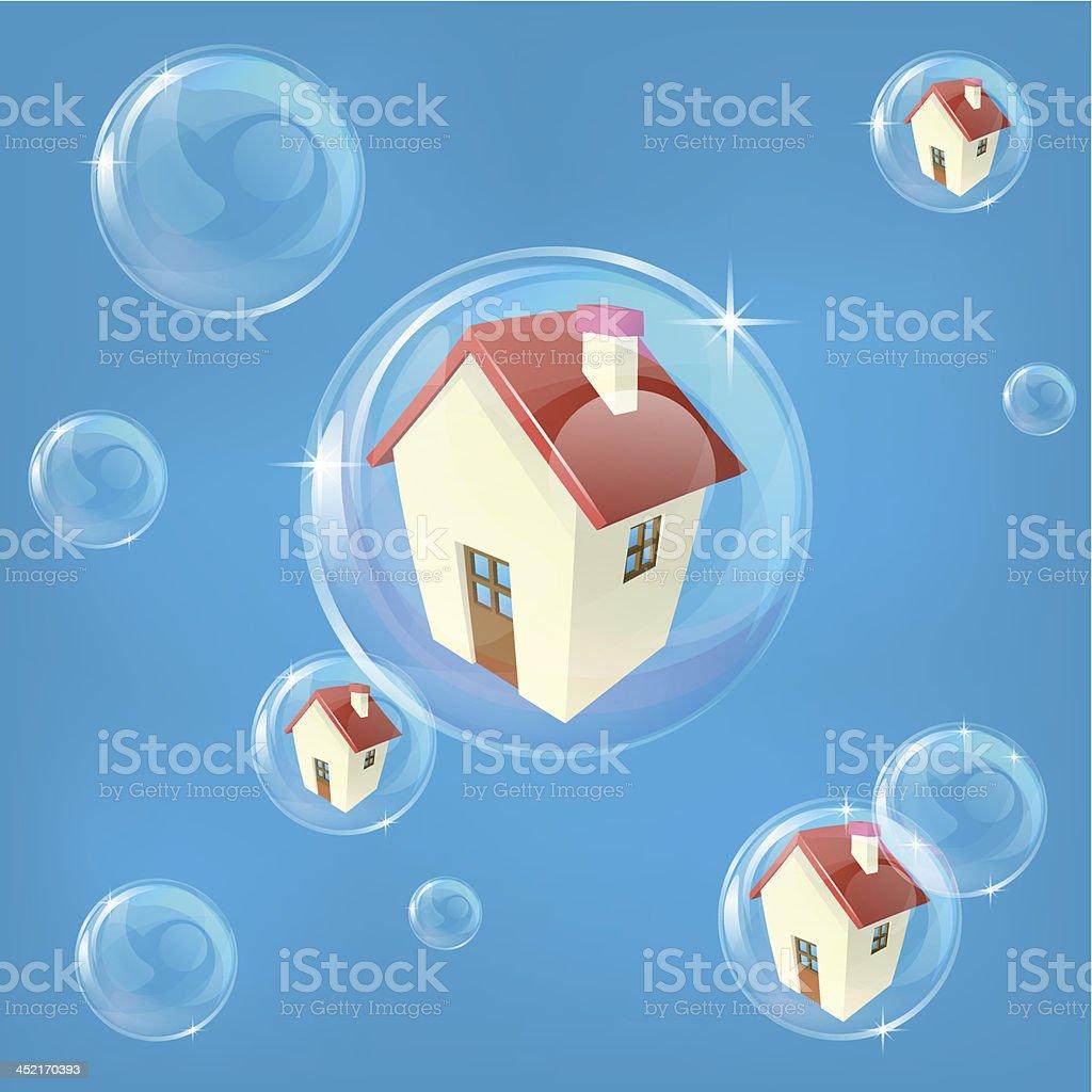 Housing bubble concept royalty-free stock vector art