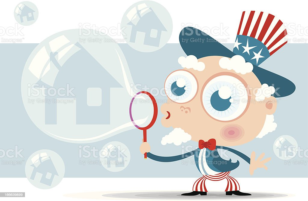 Housing Bubble royalty-free stock vector art