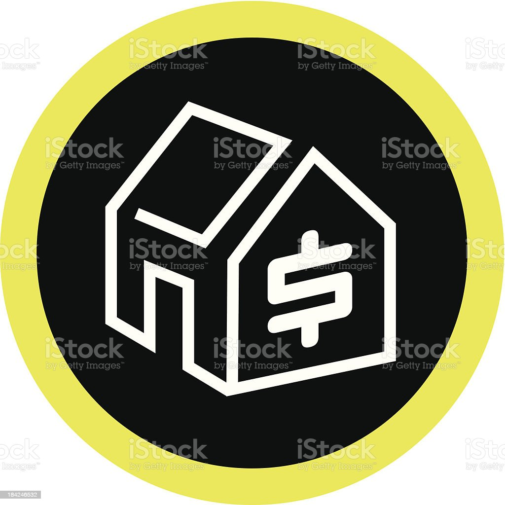 Housing Cost royalty-free stock vector art