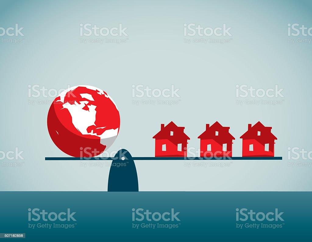 Housing Development vector art illustration