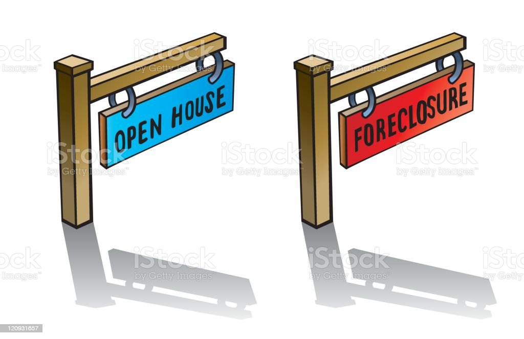Housing signs royalty-free stock vector art