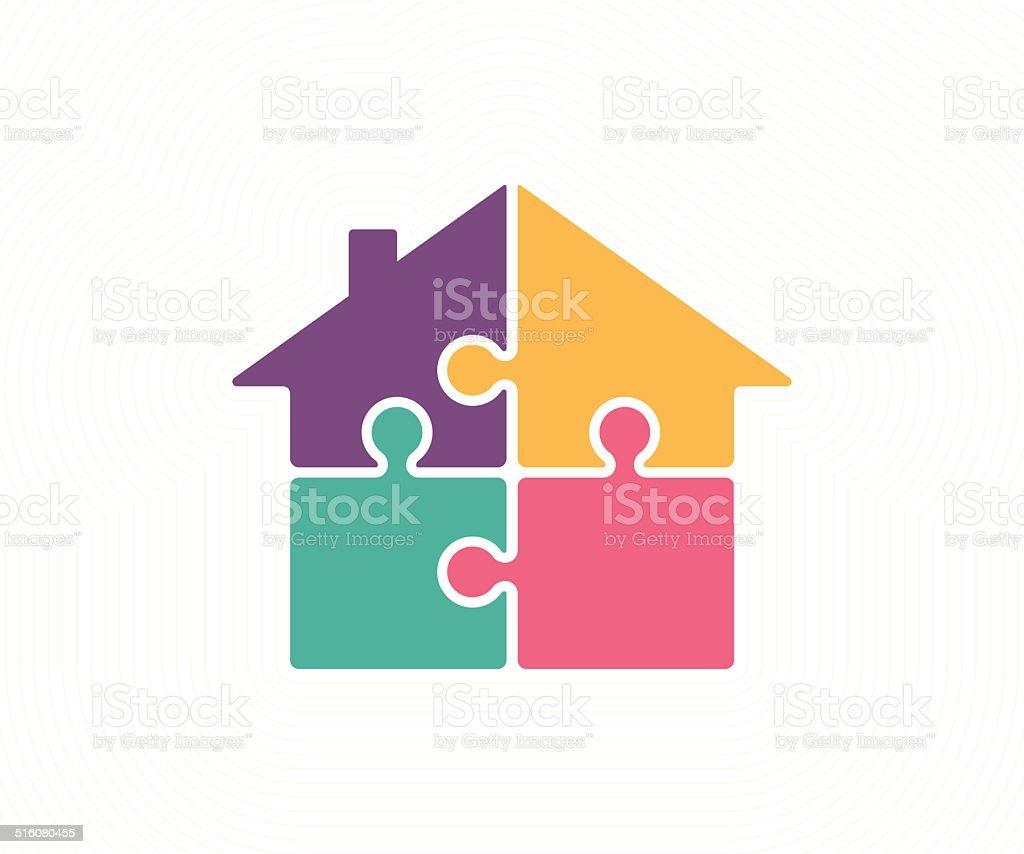Housing Solution vector art illustration