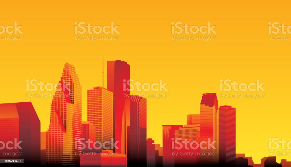Houston vector art illustration