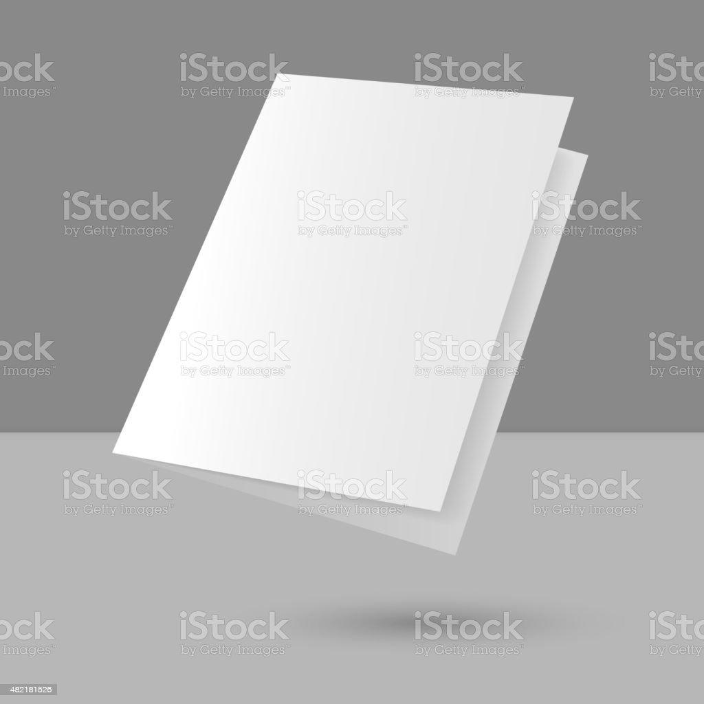 Hovering Blank empty magazine vector art illustration