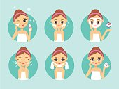 How to clean face illustration