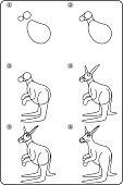 How To Draw Kangaroo. Easy Drawing Kangaroo For Children. Step By Step