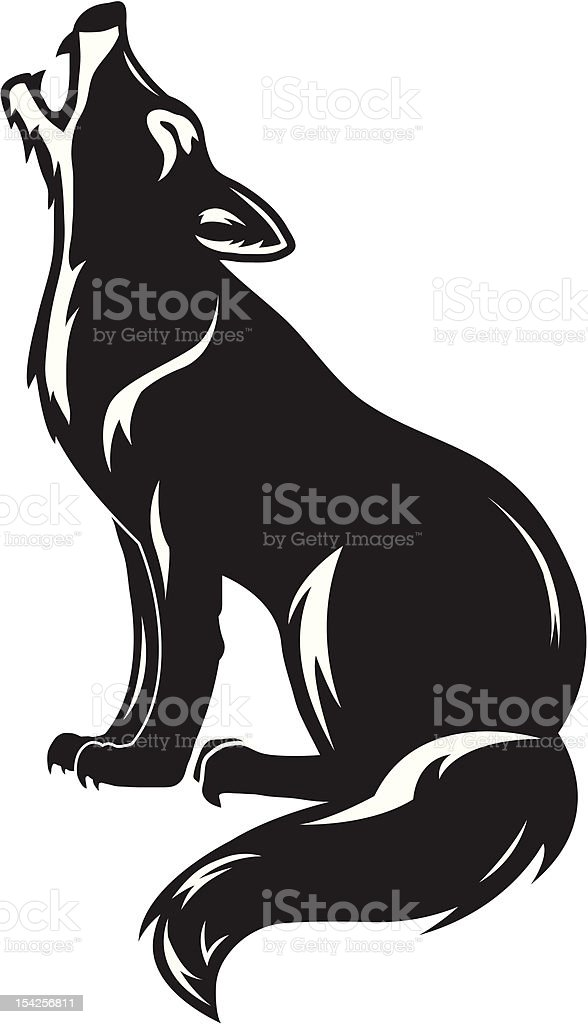 Howling wolf royalty-free stock vector art