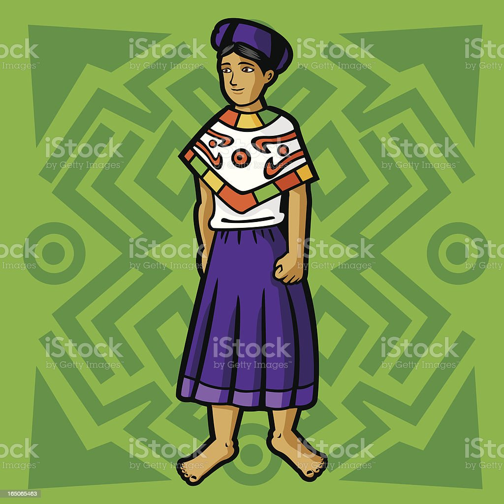 Huasteca (Mexican garment series) royalty-free stock vector art