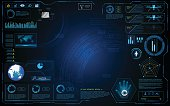 hud interface graphic system design innovation technology working concept background
