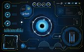 hud interface screen smart UI system technology security concept background