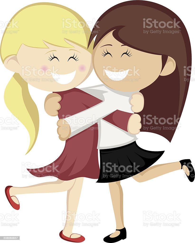 Hug collection vector art illustration
