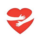 Hugging someone's heart