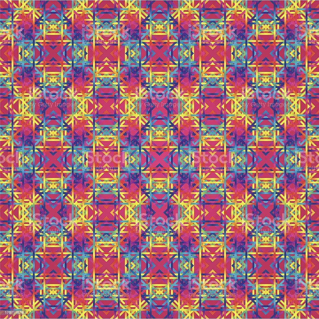 Huichol art rug Pattern vector art illustration