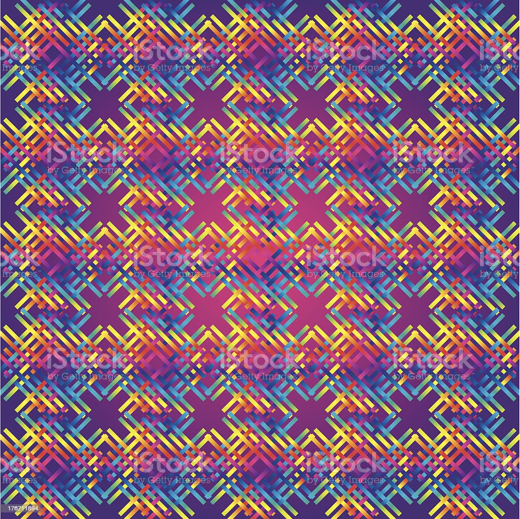 Huichol  rug Pattern royalty-free stock vector art
