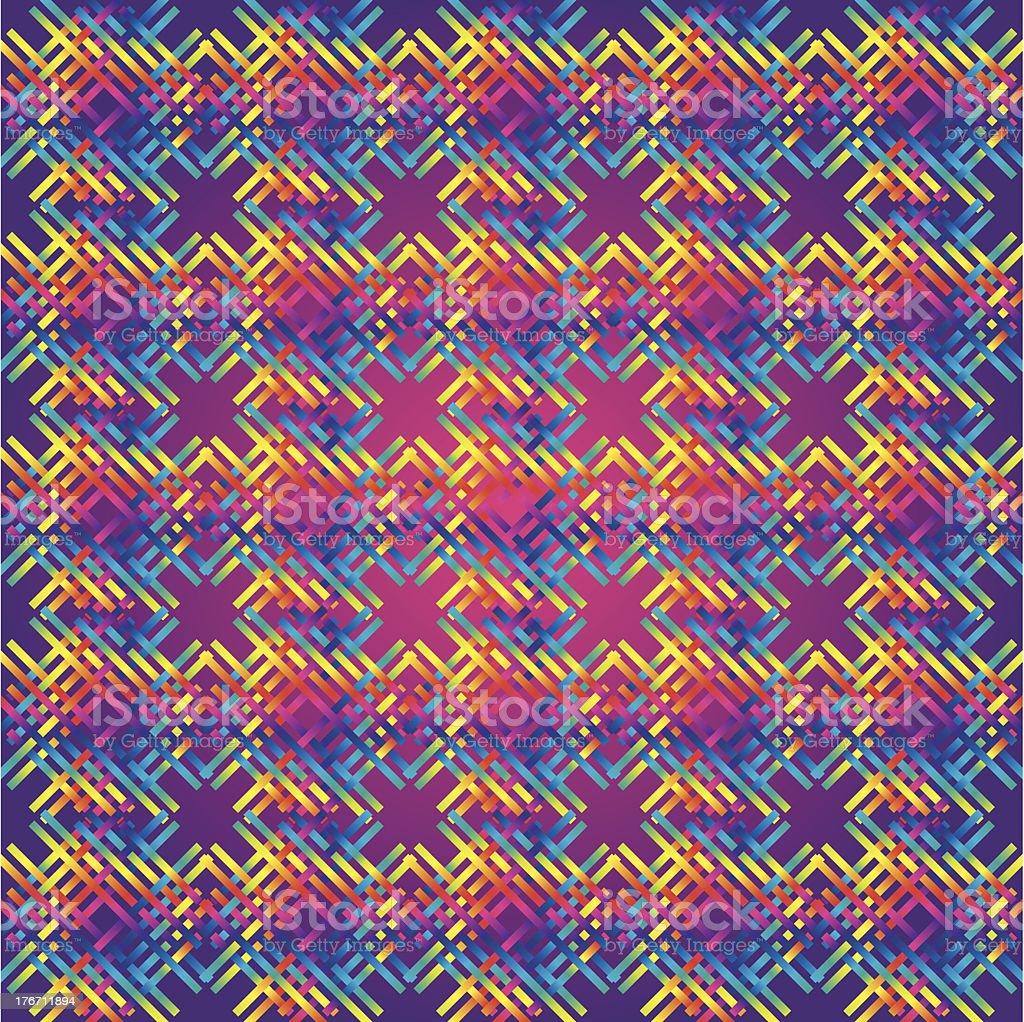 Huichol  rug Pattern vector art illustration