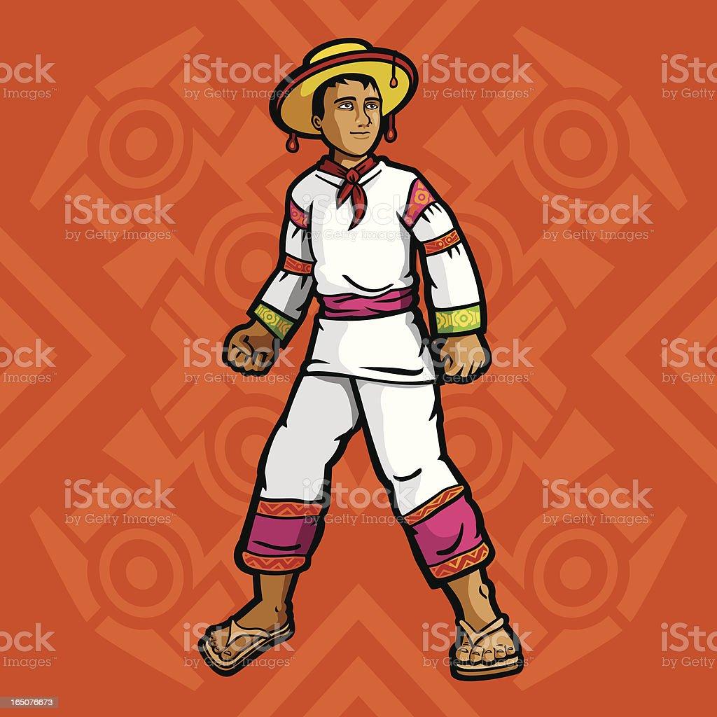 Huichol (Mexican garment series) vector art illustration