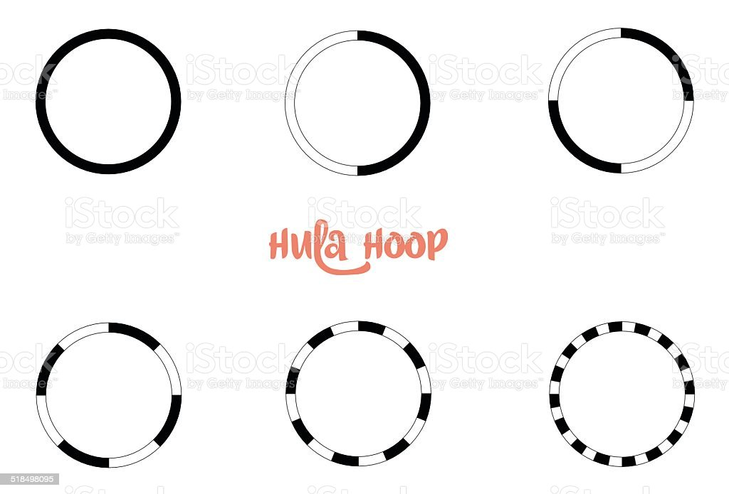 Hula Hoop Circles vector art illustration
