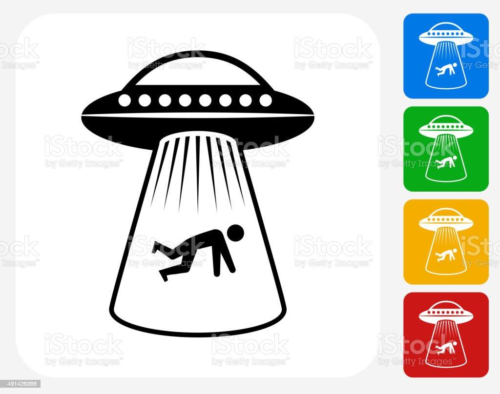 Human Abduction Icon Flat Graphic Design vector art illustration