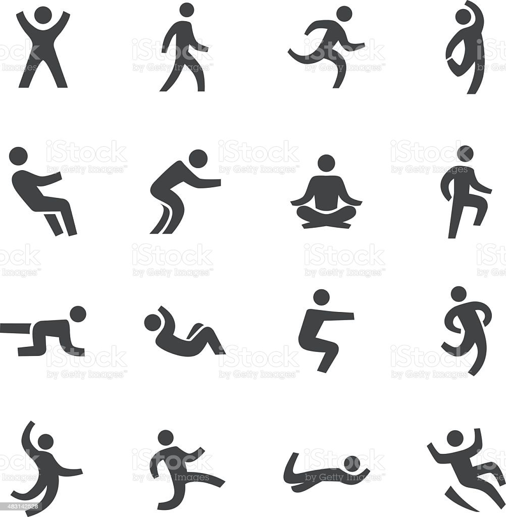 Human Action Icons - Acme Series vector art illustration