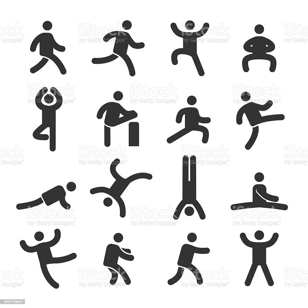 Human Action Icons Set - Acme Series vector art illustration