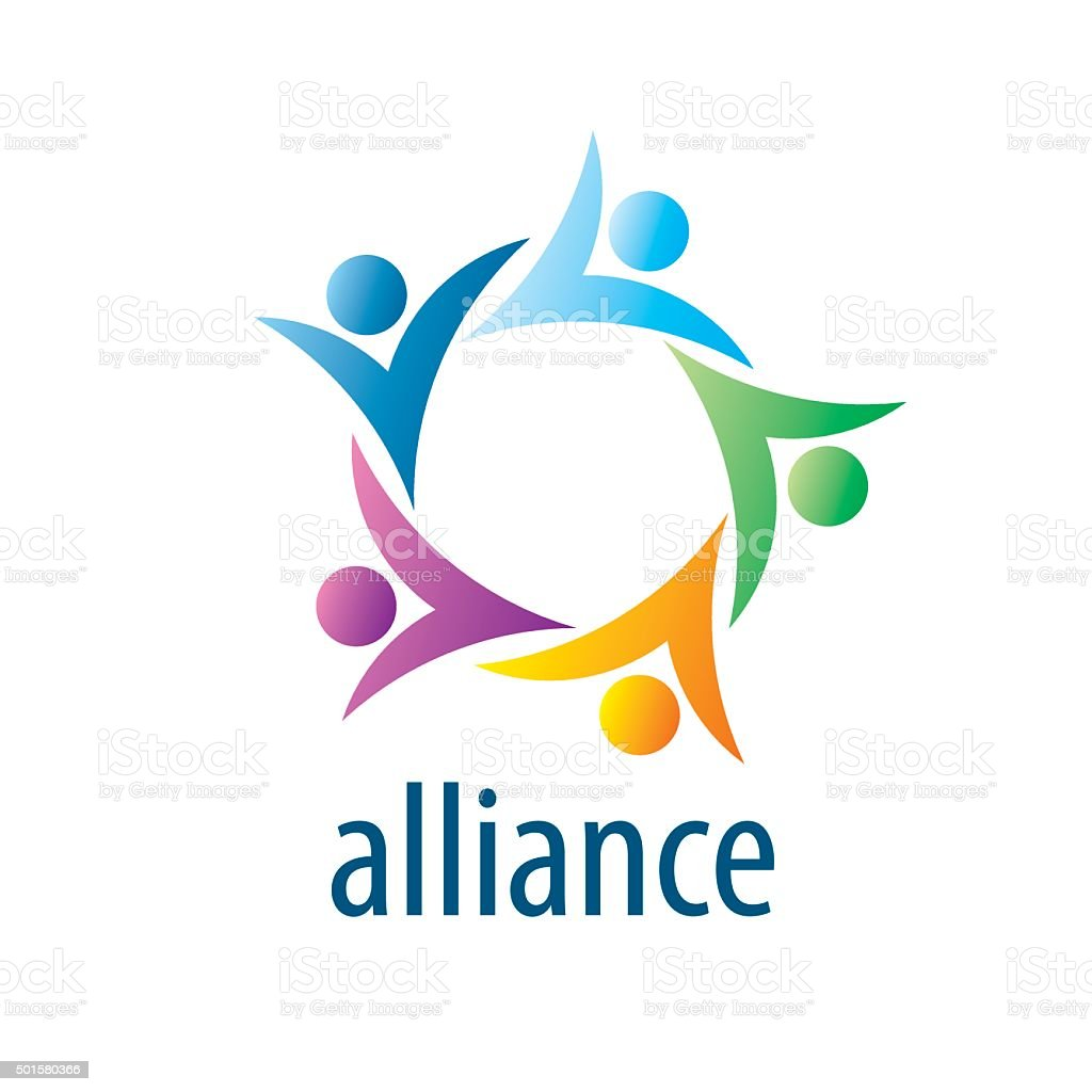 Human Alliance icon vector art illustration
