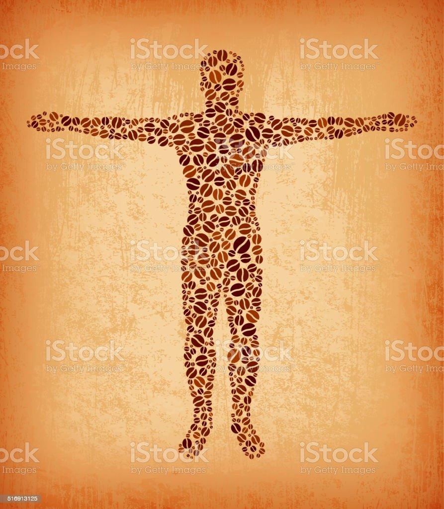 Anatomía Humana Sin Royalties De Patrón De Grano De Café ...