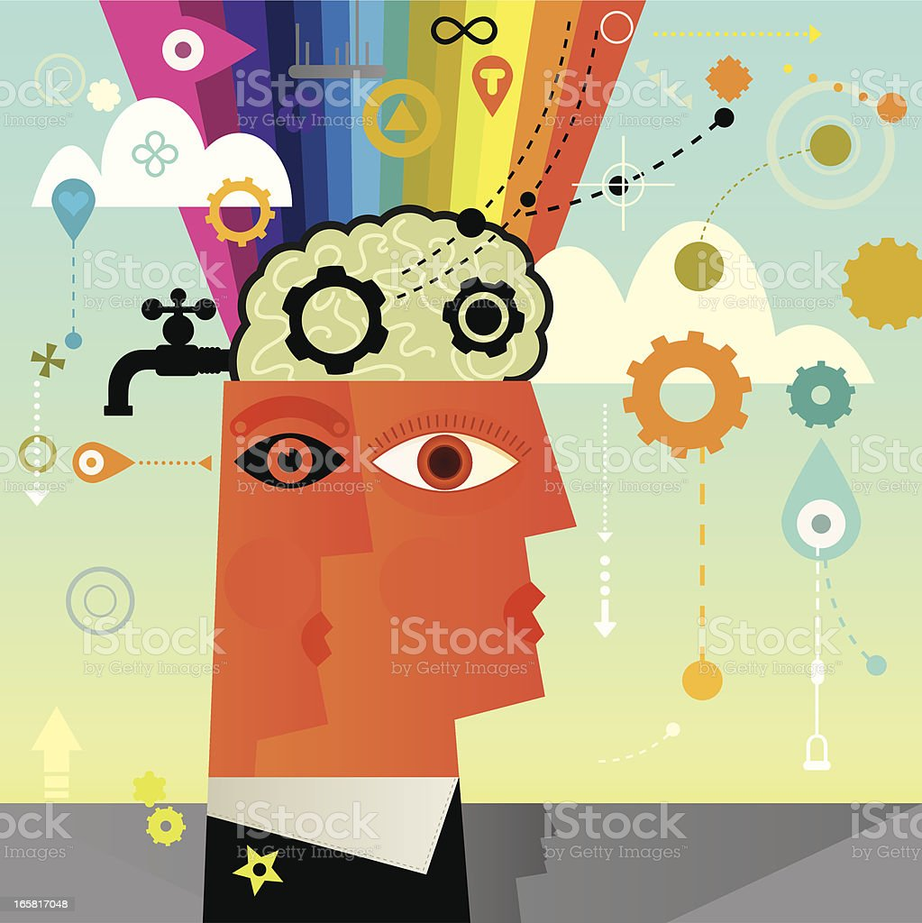 Human And Mind royalty-free stock vector art