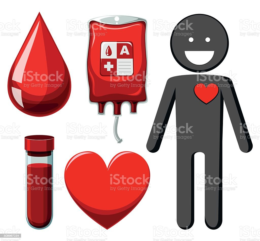 Human  blood donation vector art illustration