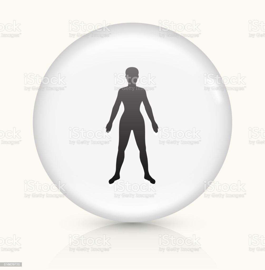 Human Body icon on white round vector button vector art illustration