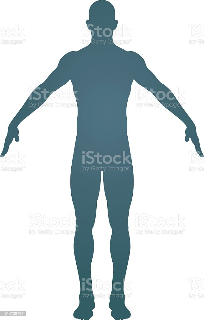 Human body silhouette vector art illustration