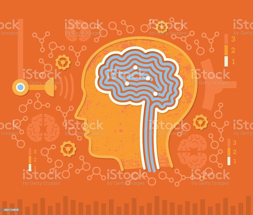 Human Brain Circuits vector art illustration