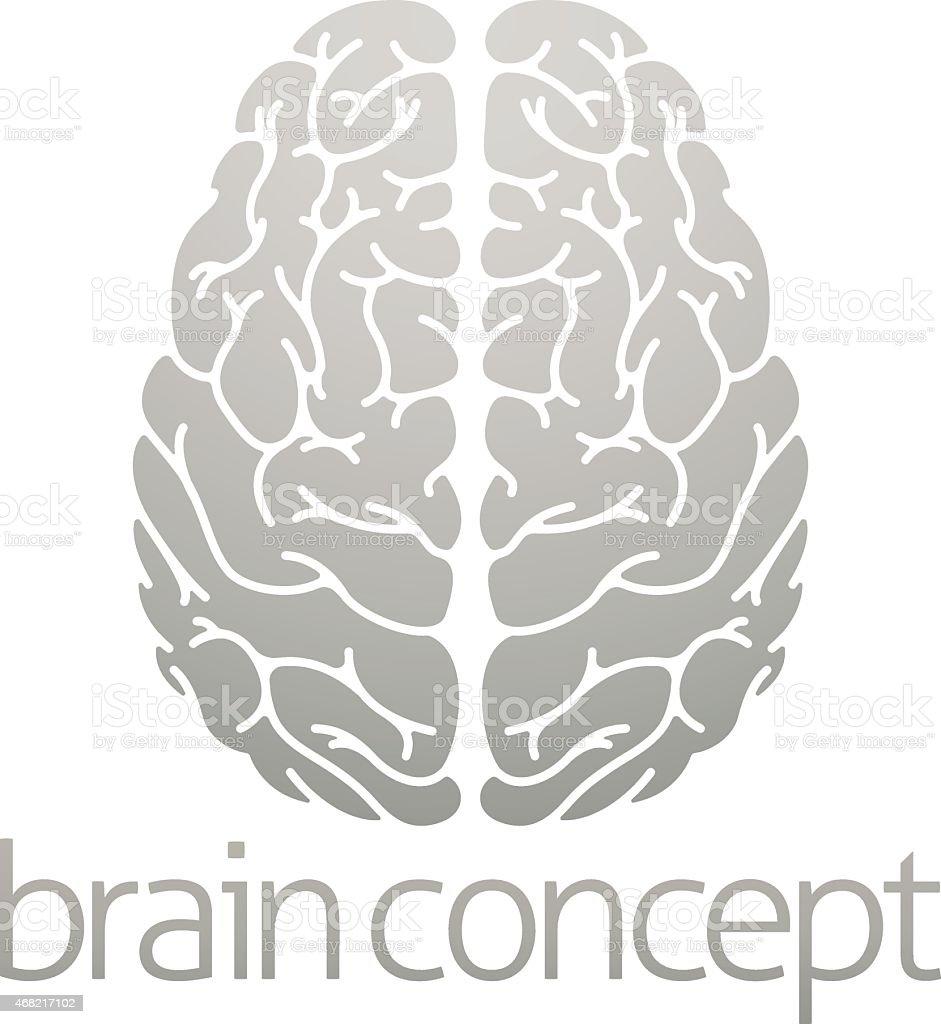 Human brain concept vector art illustration