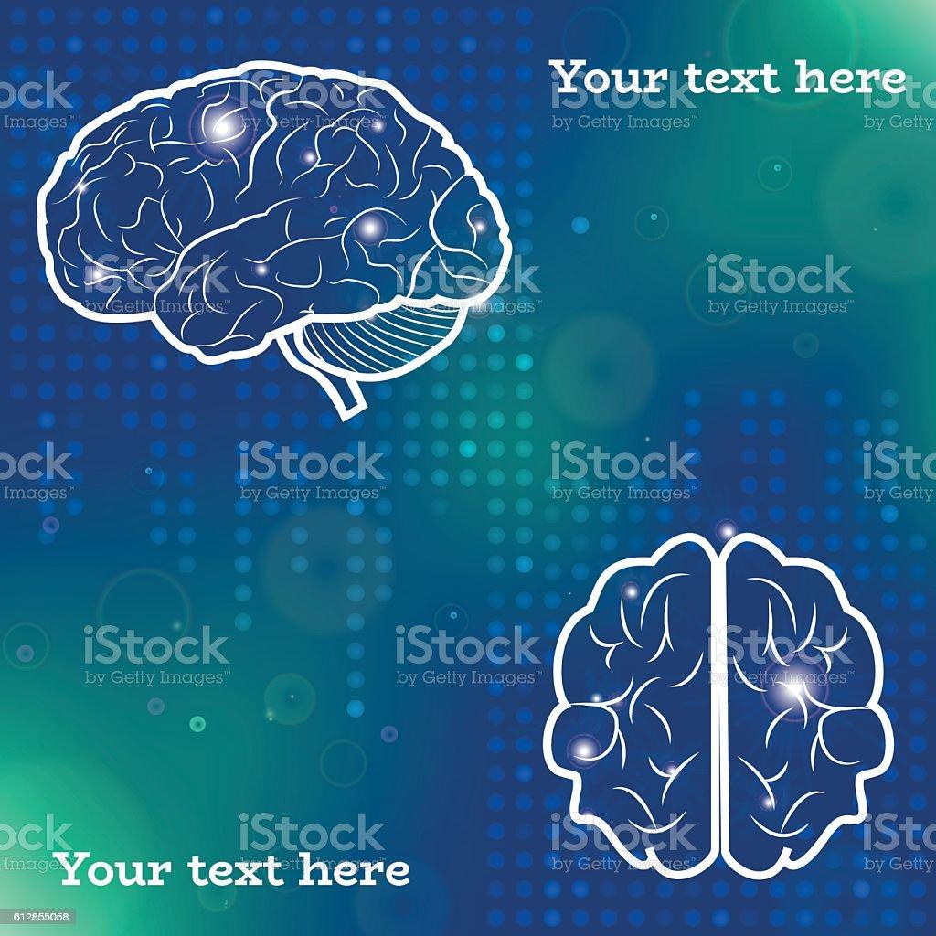 Human brain projections stock vecteur libres de droits libre de droits