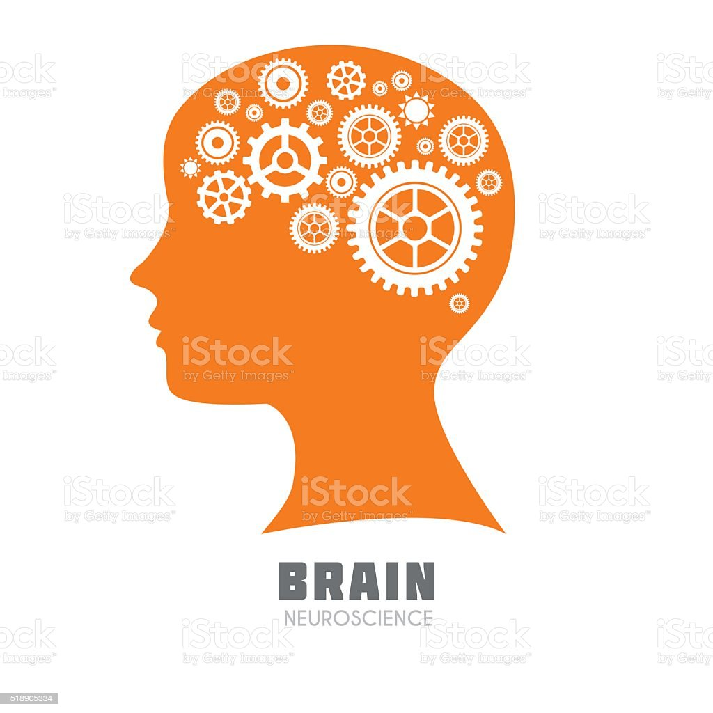 Human Brain vector icon vector art illustration