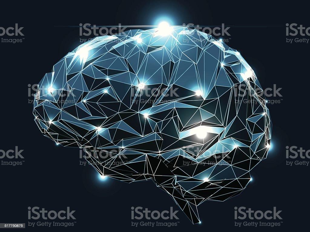 Human Brain vector art illustration