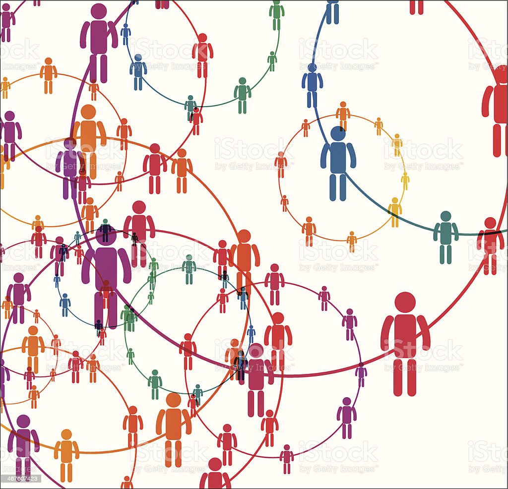 Human connection vector art illustration