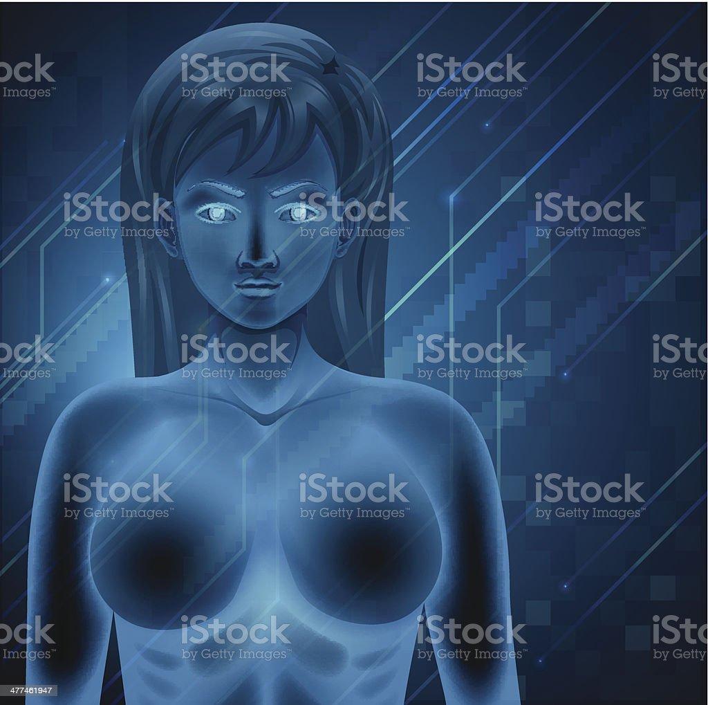 Human DNA royalty-free stock vector art