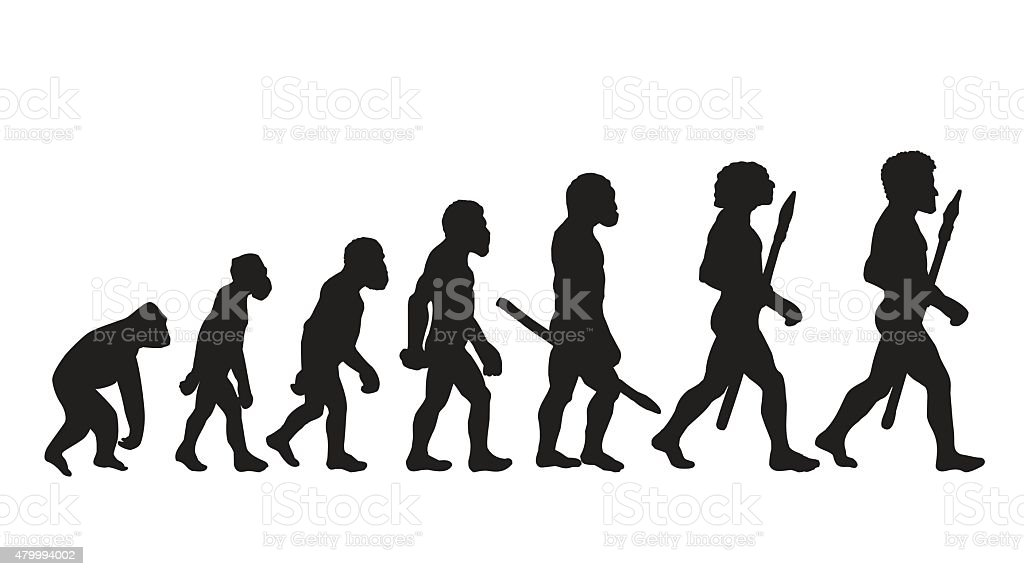 Human evolution. Future. Human Evolution Silhouettes. vector art illustration