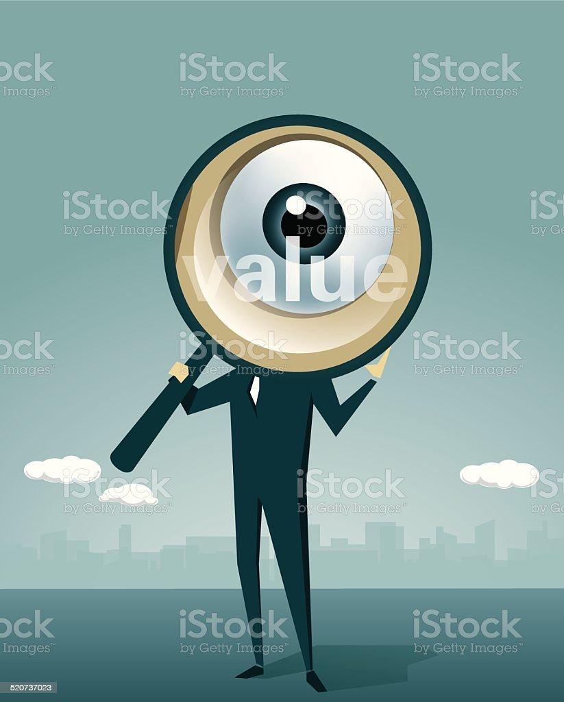 Human Eye, Loupe, Surveillance,Detective, Magnifying Glass, Human Eye vector art illustration