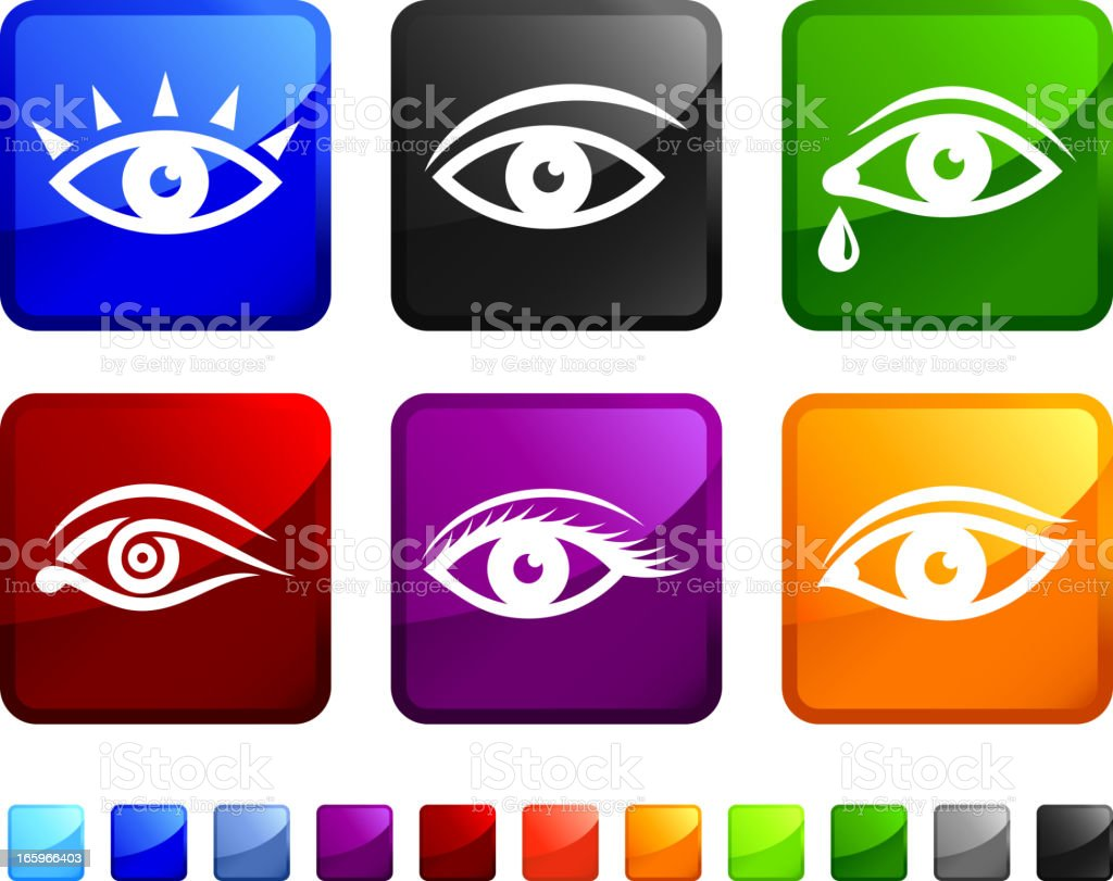 Human Eye royalty free vector arts vector icon set stickers vector art illustration