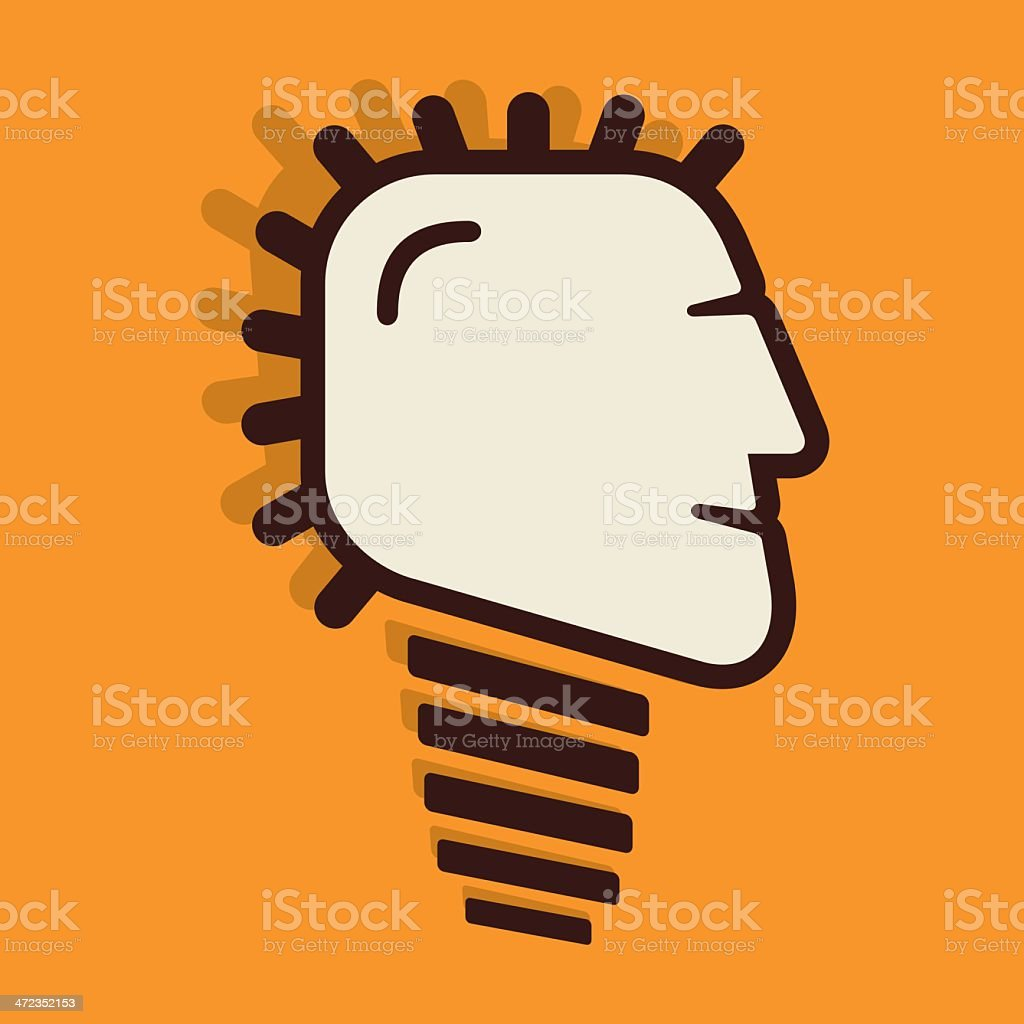 human face bulb royalty-free stock vector art
